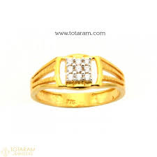 men gold ring design 22k gold ring for men with cz 235 gr4148 buy this