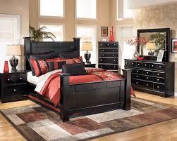 Bed And Nightstand Set Poster Bedroom Set In Black