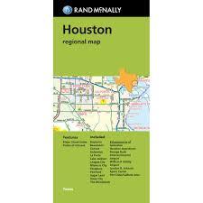 Pasadena Zip Code Map Rand Mcnally Houston Regional Map Tx Green Cover Rand Mcnally