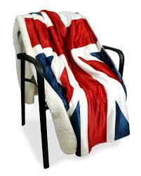 united states british uk flag coral fleece blankets on the bed