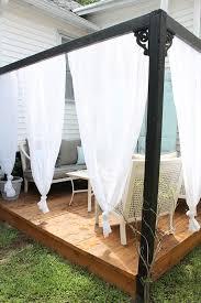 Outdoor Cabana Curtains Diy Outdoor Cabana With Curtains Outdoor Cabana Cabana And
