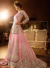engagement lengha baby pink designer punjabi jacket lengha for engagement