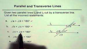 11 angles sum in parallel and transverse lines youtube