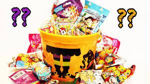 halloween basket halloween trick or treat big bucket surprise shopkins unicorno