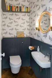 cloakroom bathroom ideas tiny bathroom with cool wallpaper home tiny
