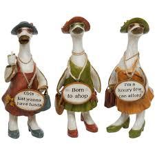 complete set of 3 glam ducks fabulous shabby chic