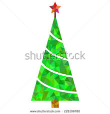 creative christmas tree card vector origami stock vector 111571322