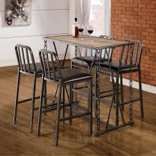 Bar Stool And Table Sets Rustic Industrial Chain Link Bar Table Set Bistro And Bar Table