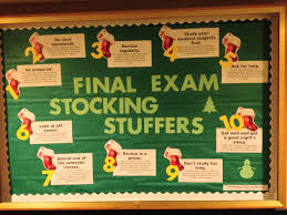 final exam stocking stuffers educational bulletin board on final