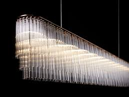 Design Chandeliers Original Design Chandelier Glass Linear Tom Kirk Lighting