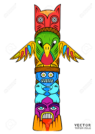aztec clipart totem pole pencil and in color aztec clipart totem