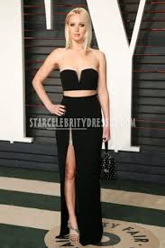 Jennifer Lawrence Vanity Jennifer Lawrence Vanity Fair Oscars 2016 Strapless Two Piece