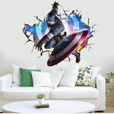 3d the avengers wall sticker captain america wall decal vinyl