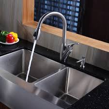 double bowl kitchen sink faucet placement cliff kitchen focus for