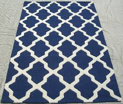rugsville moroccan trellis 10593 navy ivory wool rug rugsville com