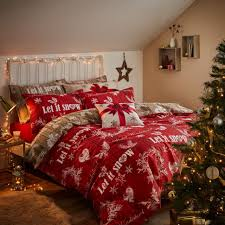 Double Christmas Duvet Catherine Lansfield Christmas Garland Red Xmas Duvet Cover Hearts