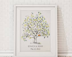 tree signing for wedding guest book alternatives custom artwork the original by bleudetoi