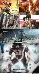 Funny Attack On Titan Memes - attack on titan eren jeager by ballz69 meme center