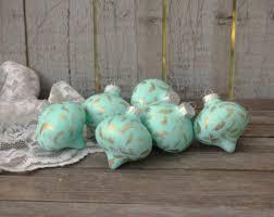 mint green ornaments etsy