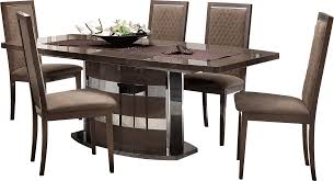 formal contemporary dining room sets with brown finish classics