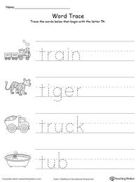 trace words that begin with letter sound t myteachingstation com