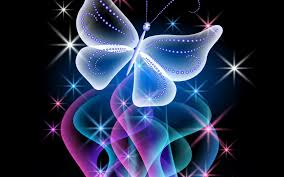 glitter wallpaper with butterflies abstract neon glow neon blue pink design butterfly sparkle