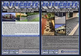 home design for new year elegant playful flyer design for elitecrete constructions pty ltd