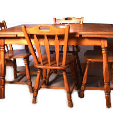 Maple Dining Room Sets Maple Draw Leaf Dining Table And Chairs Ebth