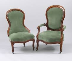 a pair of victorian balloon back mr u0026 mrs chairs 11 22 08 sold
