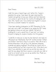 image result for introduction letter to parents from preschool