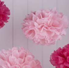 hot pink tissue paper tissue paper pom poms hot pink and light pink vl