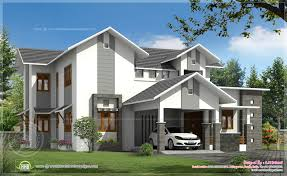 modern sloping roof house in 260 sq m kerala home design and