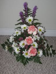 the midwestern wife triangle flower arrangement