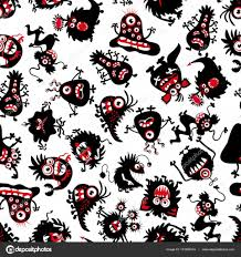 halloween background funny funny monsters pattern for little boy halloween scary creatures