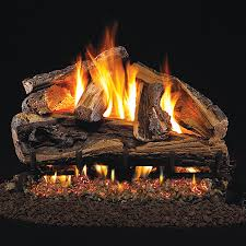 Fireplace Gas Log Sets by Real Fyre Rugged Split Oak Vented Gas Log Set Woodlanddirect Com