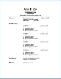simple resume outline free resume format pdf for freshers latest professional resume formats