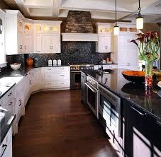 white kitchen cabinets dark granite countertops walnut pictures