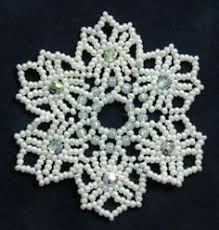 beaded snowflakes pattern http www ecrafty casearch aspx