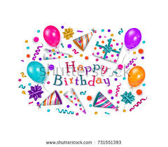 happy birthday greeting card banner poster stock vector 731551393