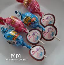 lollipop favor tags personalized set of 20 birthday
