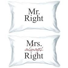 his and hers pillow cases his and hers pillow cases pajamas s right always matching couples