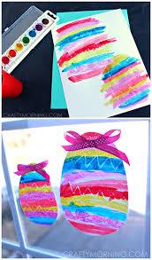 Easter Egg Decorating Ideas With Crayons by Crayon Resist Easter Egg Window Decorations Crafty Morning