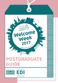 edinburgh welcome week postgraduate guide 2017 by edinburgh