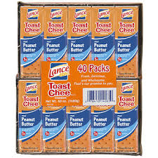 lance toast chee peanut butter and cheese crackers 40 pk 1 5 oz