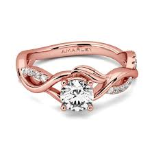 gold promise rings gold sterling silver 0 8 ct cut white cz intertwined