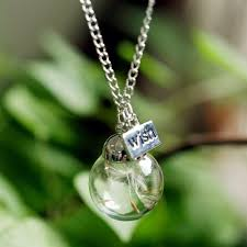 Glass Pendant Make A Wish Dandelion Glass Pendant Necklace U2013 Treasure Fan