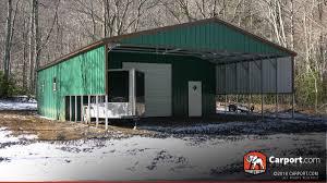 Garage With Carport Colorado Carports Metal Buildings And Garages