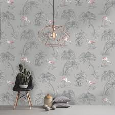 Rasch Wallpaper Flamingo Wallpaper Arthouse Vintage Lagoon Holden Lake Rasch