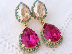 Long Chandelier Earrings Dangle Earrings Sale Navy Blue And Pearl Chandelier Earrings Drop Earrings