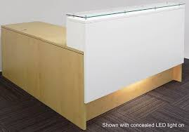 Illuminated Reception Desk Sep Yimg Ay Modernoffice Emerge Glass Top L Sh